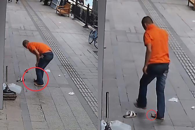 广州一男子足浴店跳楼逃单 脚趾直接被掰成90度 店主:还好没摔死