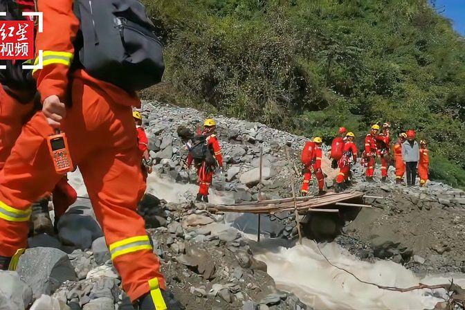 四川天全县泥石流灾害致10余人失联 已搜救出4人