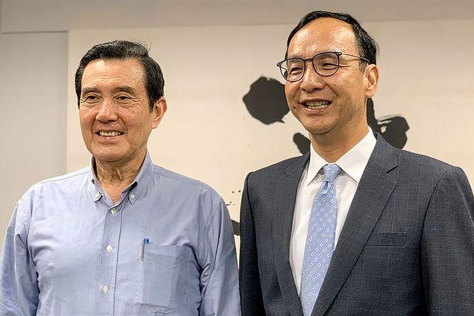 朱立伦宣布参选中国国民党主席,马英九盼有能力的人都站出来