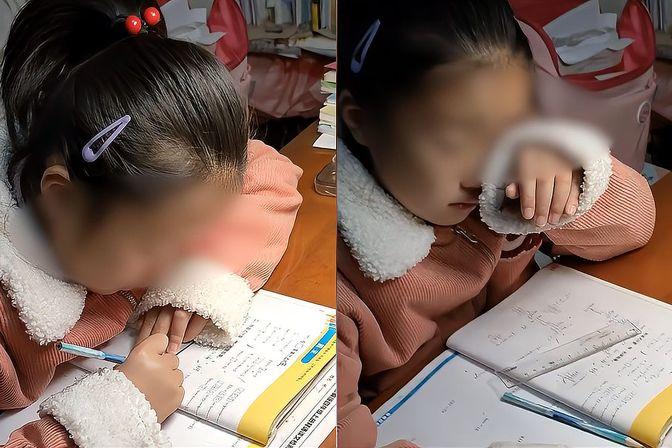 985博士妈妈被女儿写作业逼哭