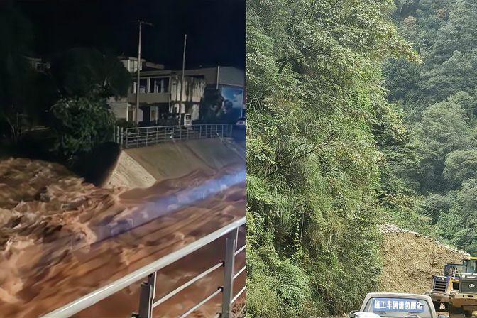 四川雅安发生泥石流 水电站库区被淹 45人已获救 尚有10余人失联