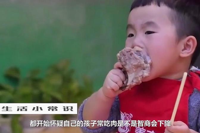 孩子吃太多肉会变笨?这是真的吗?
