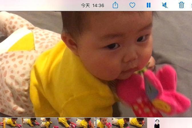 看看六个月的宝宝自己怎么玩的
