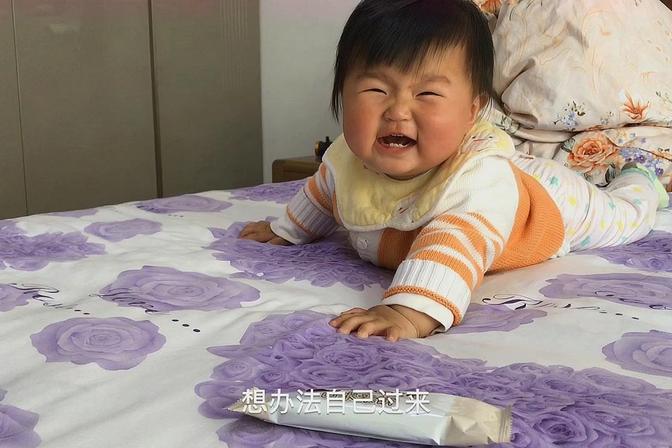 十个月的宝宝还不会爬,如何对不肯爬的宝贝进行有效爬行的训练?