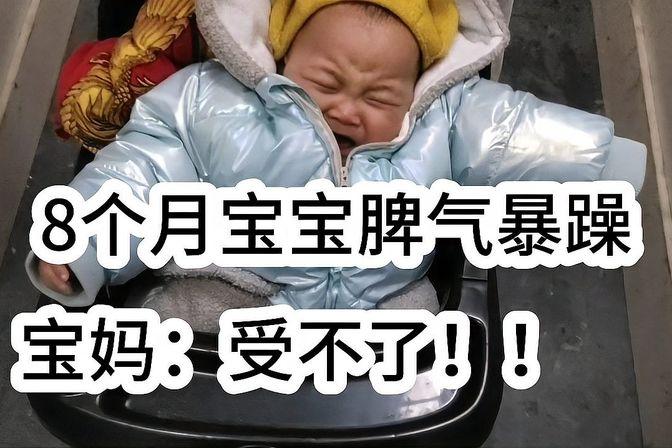 8个月宝宝脾气实在也大,动不动就哭,不要奶奶抱,怎么治?