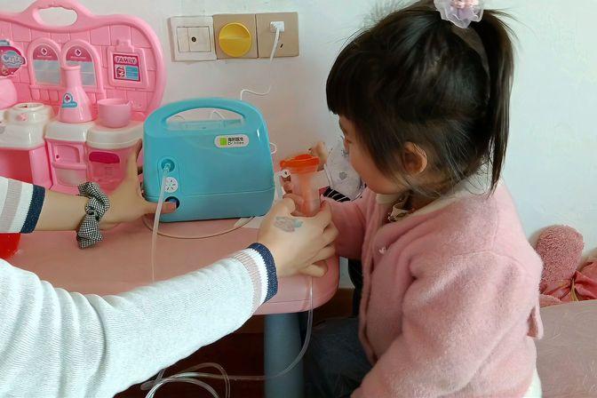 宝宝夜里睡觉咳嗽的厉害,带去医院检查,看看医生怎么说