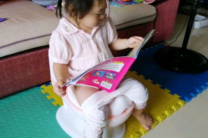 2岁宝宝一星期学会自主如厕,孺子可教也